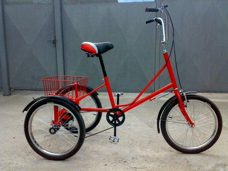 компактный трехколесный велосипед