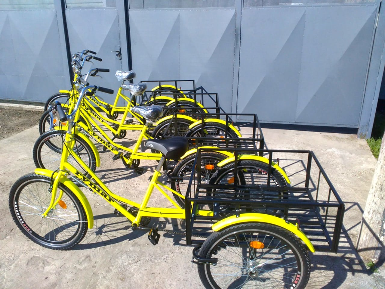 Трехколесные велосипеды для бизнеса