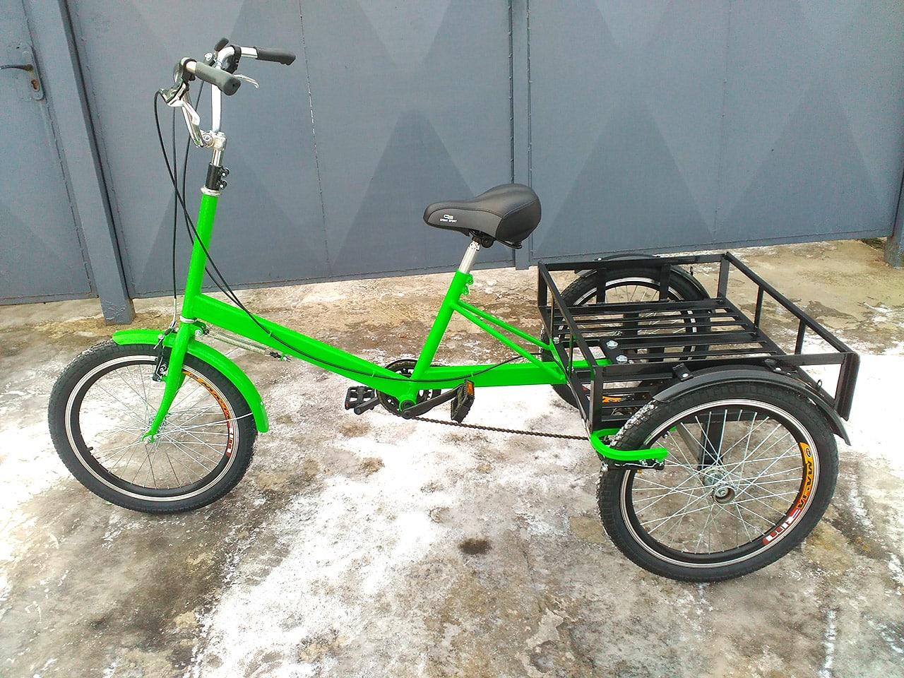 трехколесный велосипед с удобной рамой