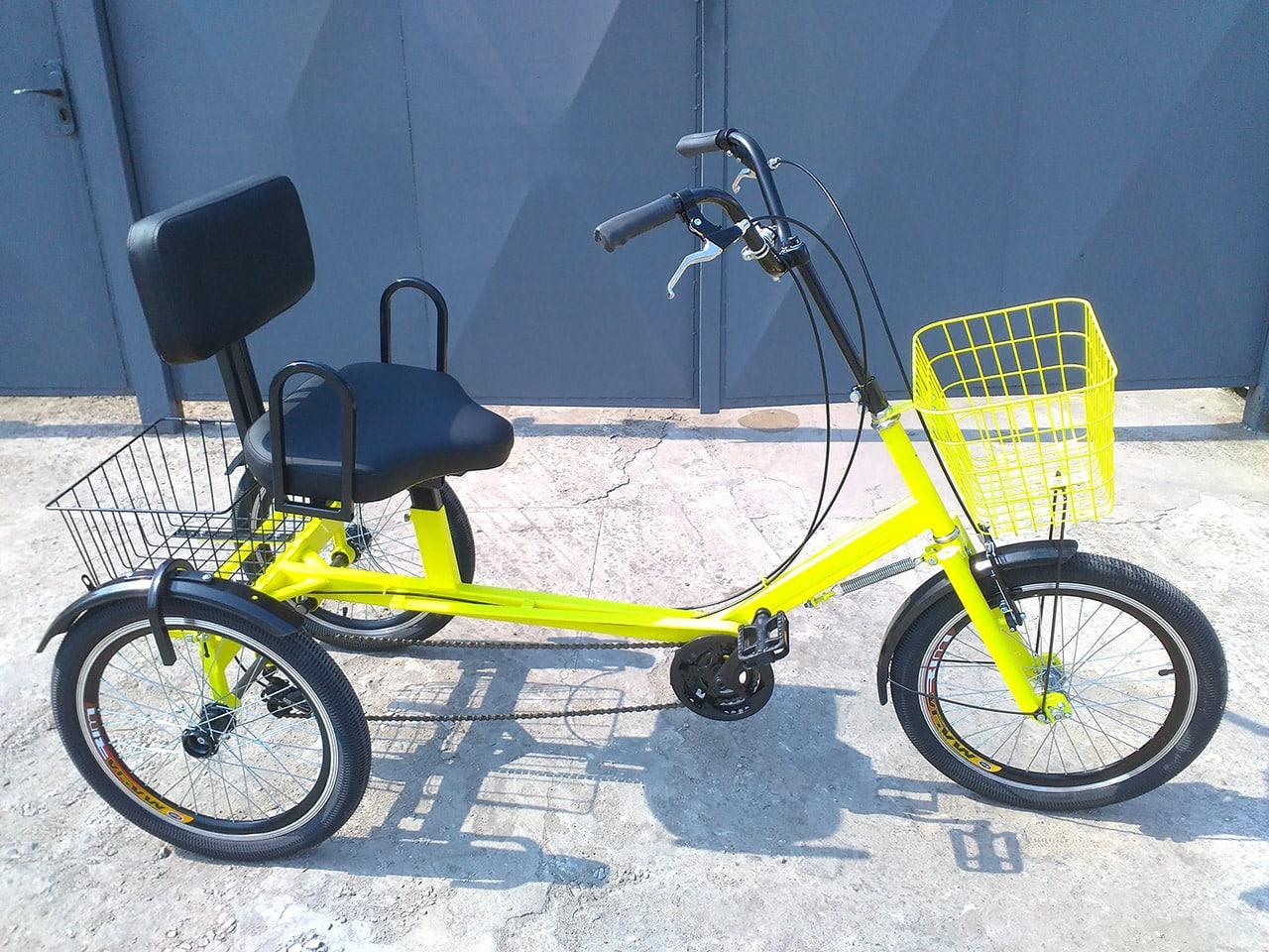 Трехколесный велосипед с корзиной Атлет