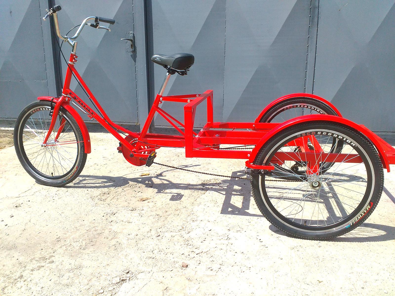 трехколесный велосипед для грузов