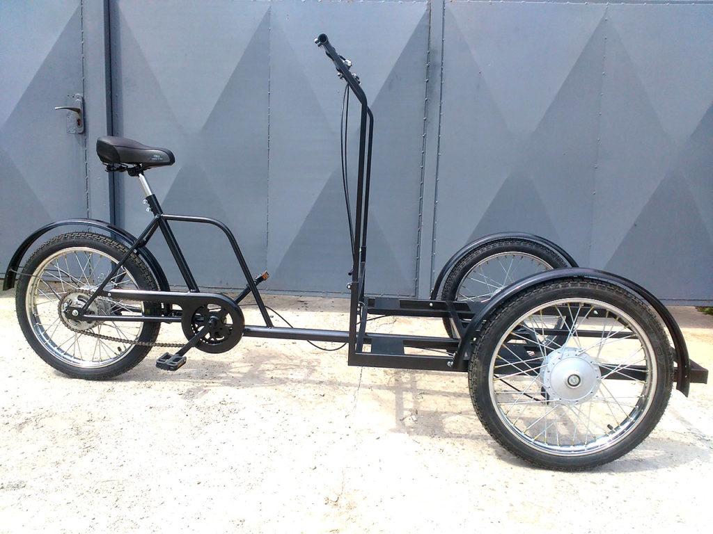велосипед грузовой на мопедных колесах