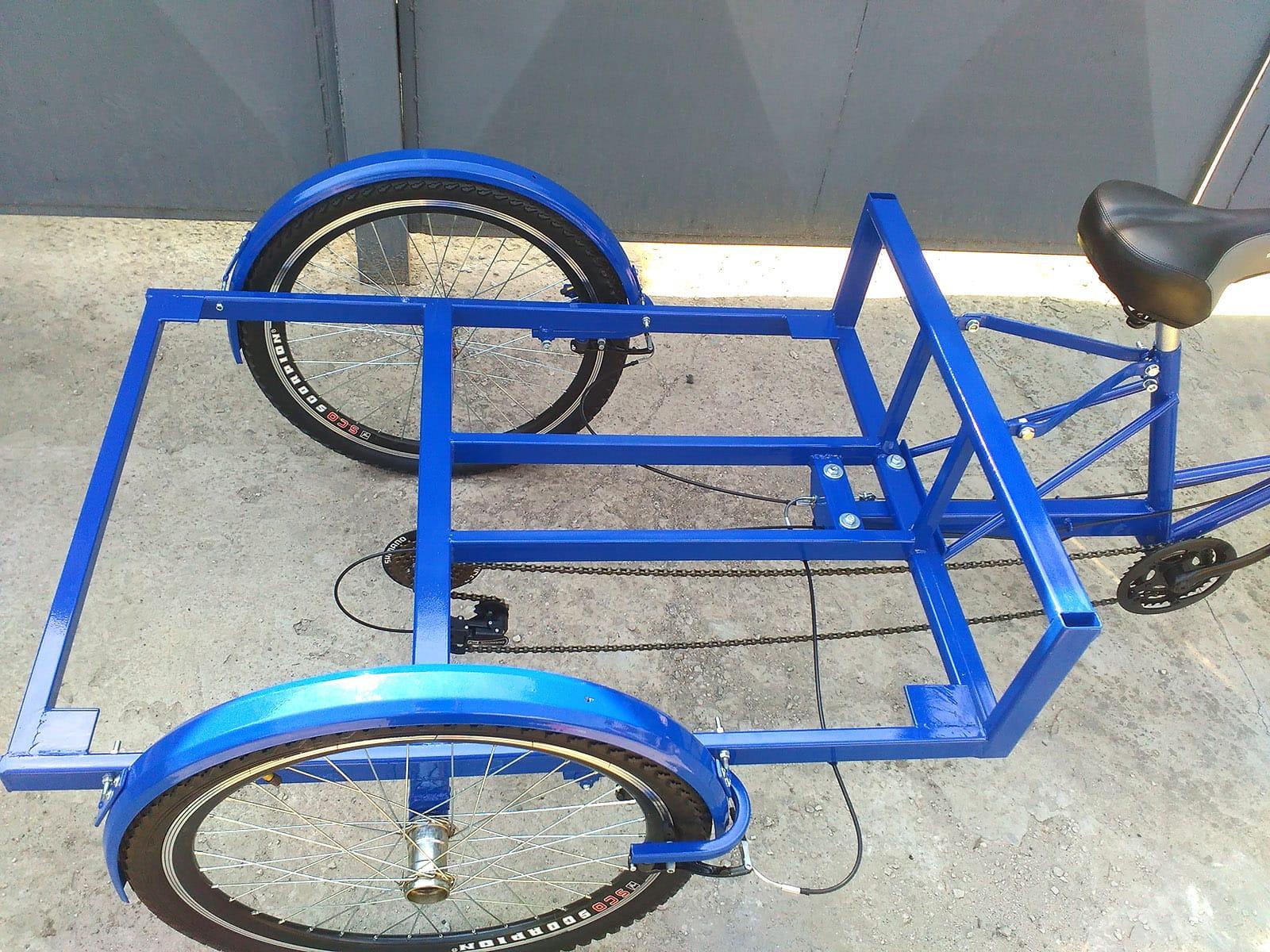велоприцеп синий цвет