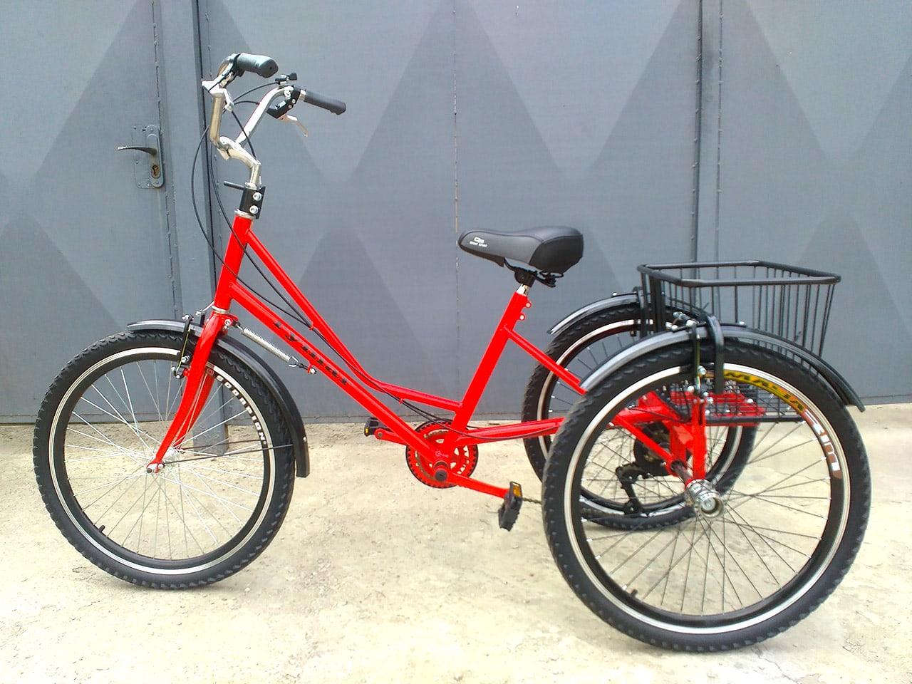"""Трехколесный велосипед на колесах 24"""""""
