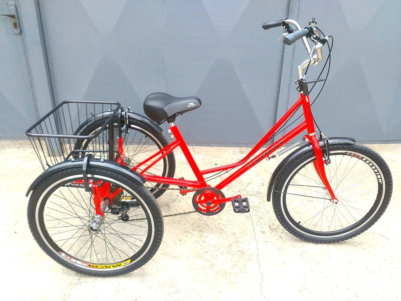 3 колеса на велосипеде