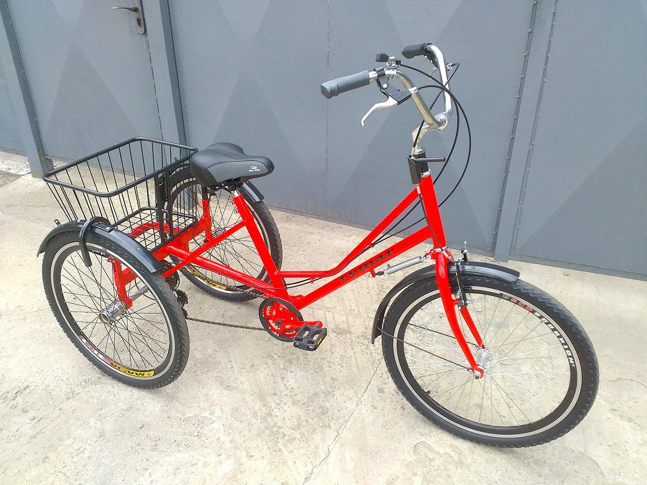 трехколесный велосипед с высоким рулем