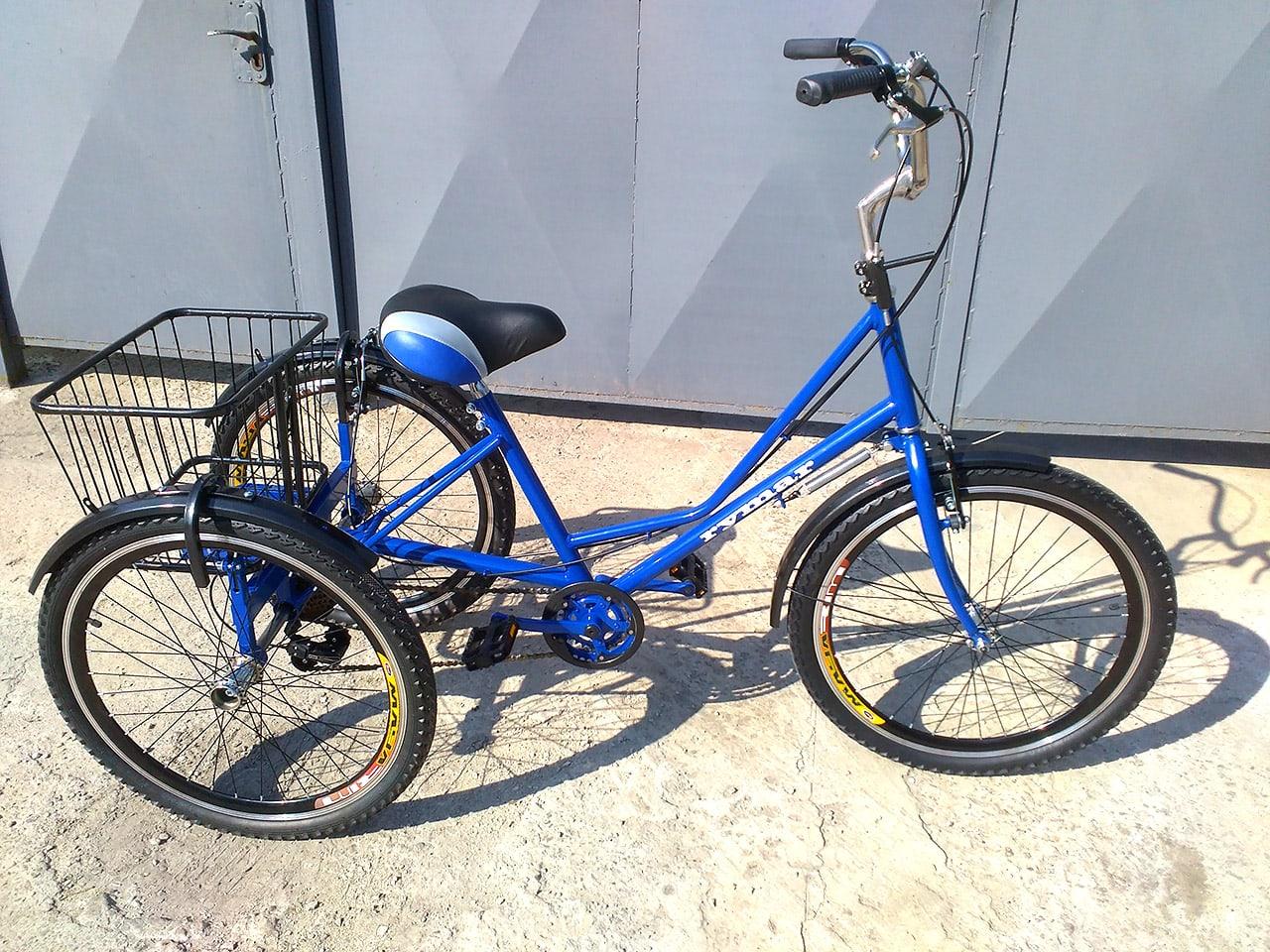 велосипед трехколесный с корзинкой