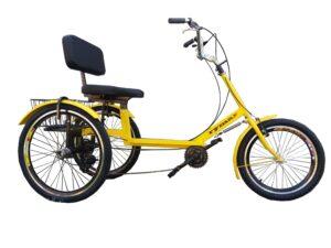 трехколесный велосипед атлет с корзиной