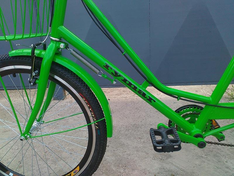 рама для велосипеда зеленый