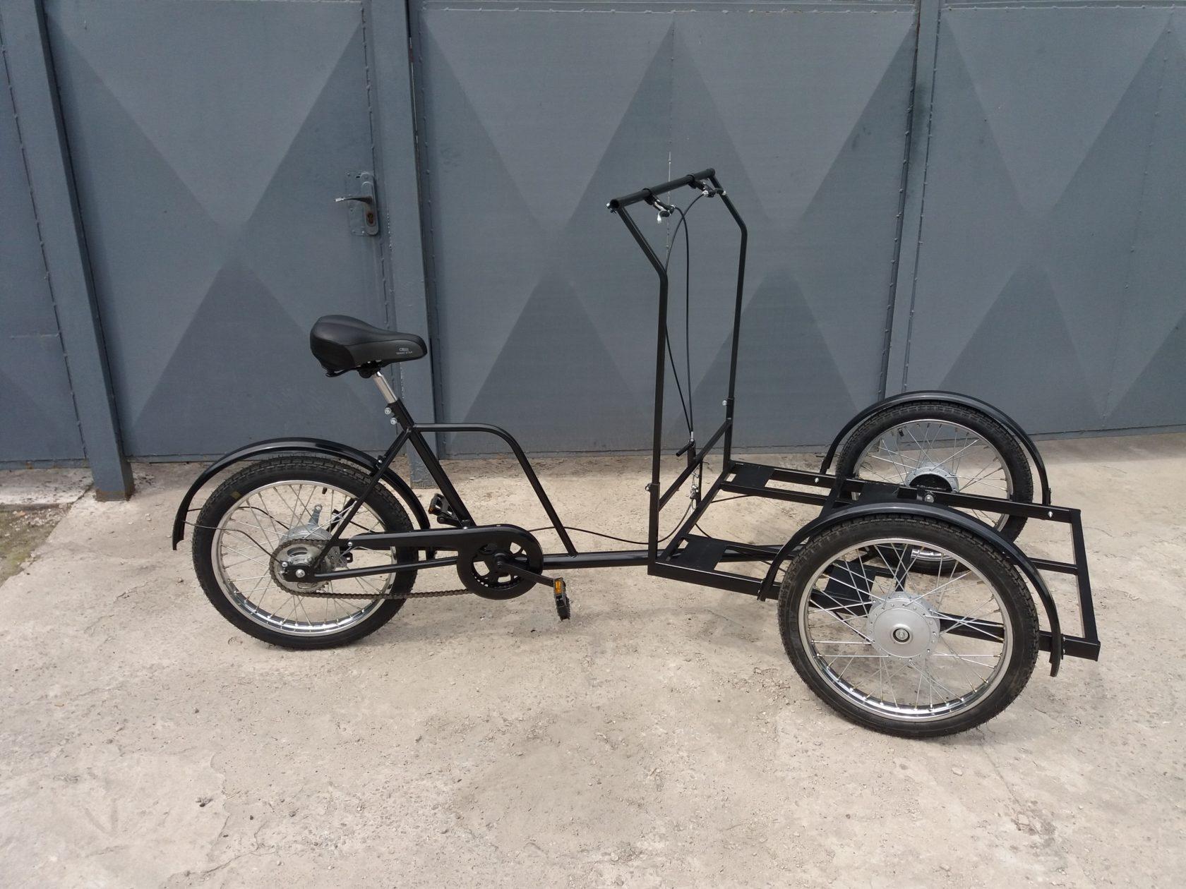 велосипед с передней грузовой платформой