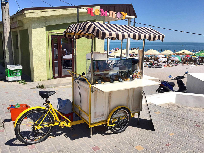 велосипед грузовой велокофейня