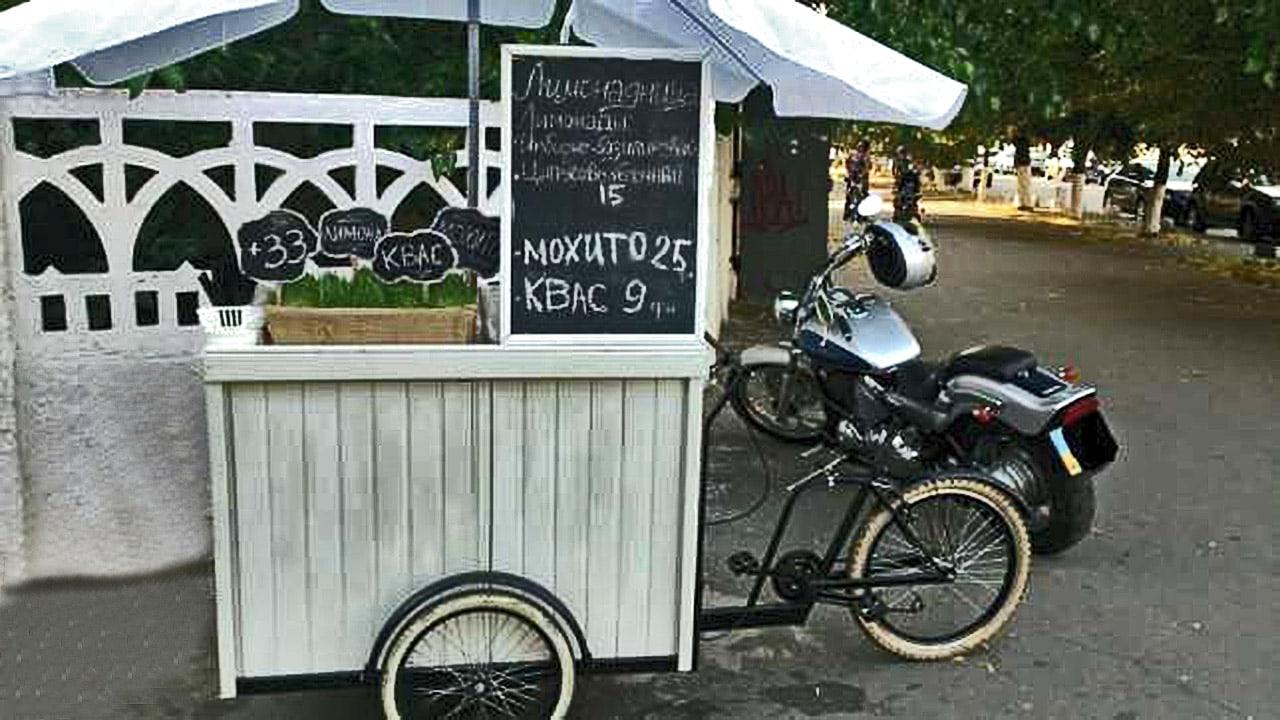 велосипед для продажи кваса и мохито