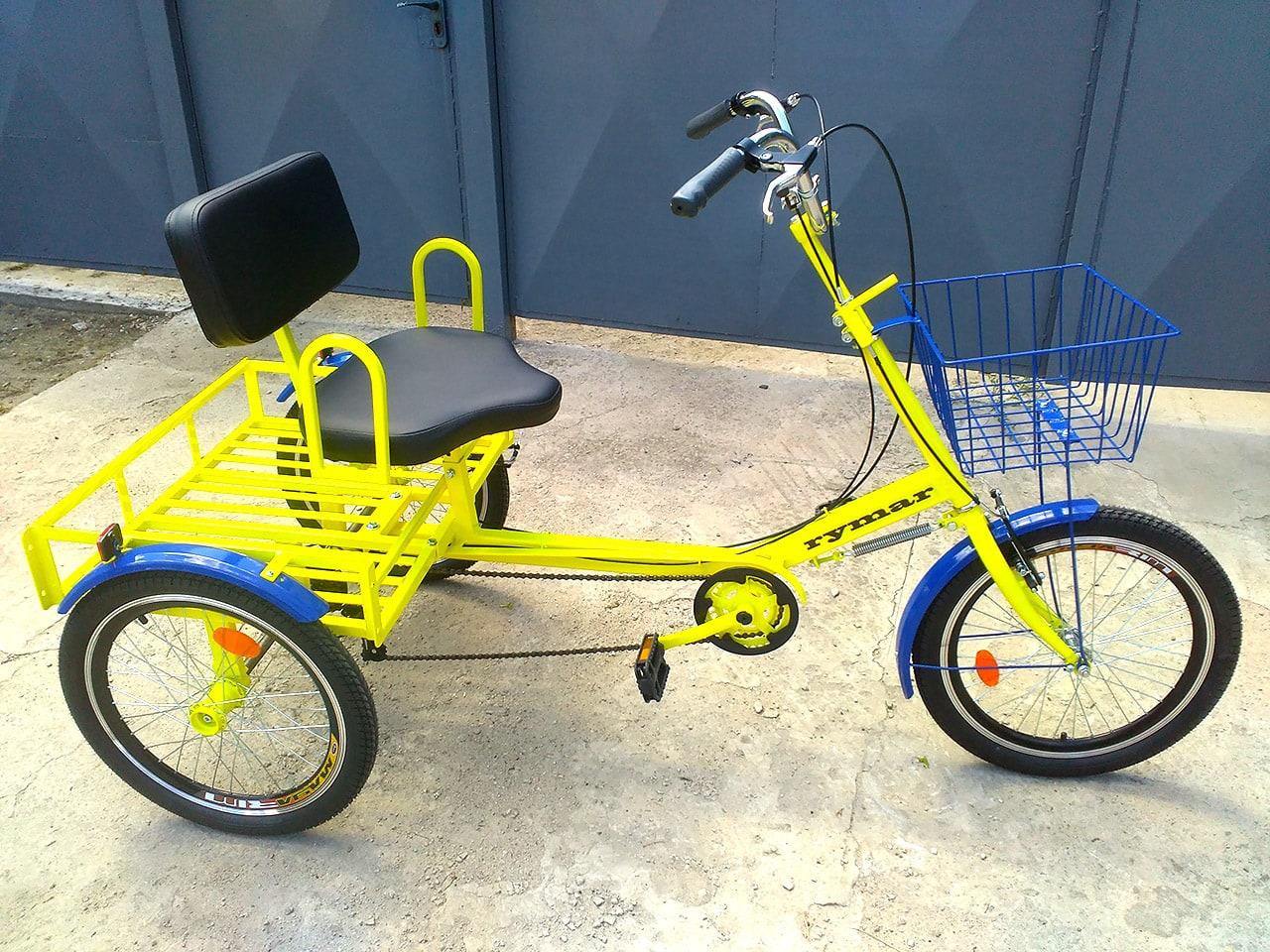 велосипед три колеса